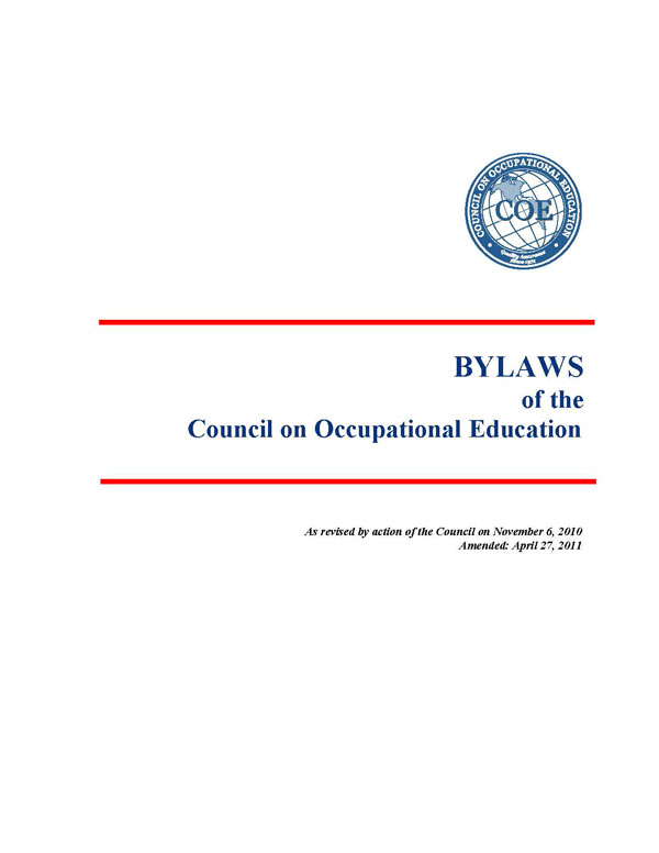 Bylaws of COE