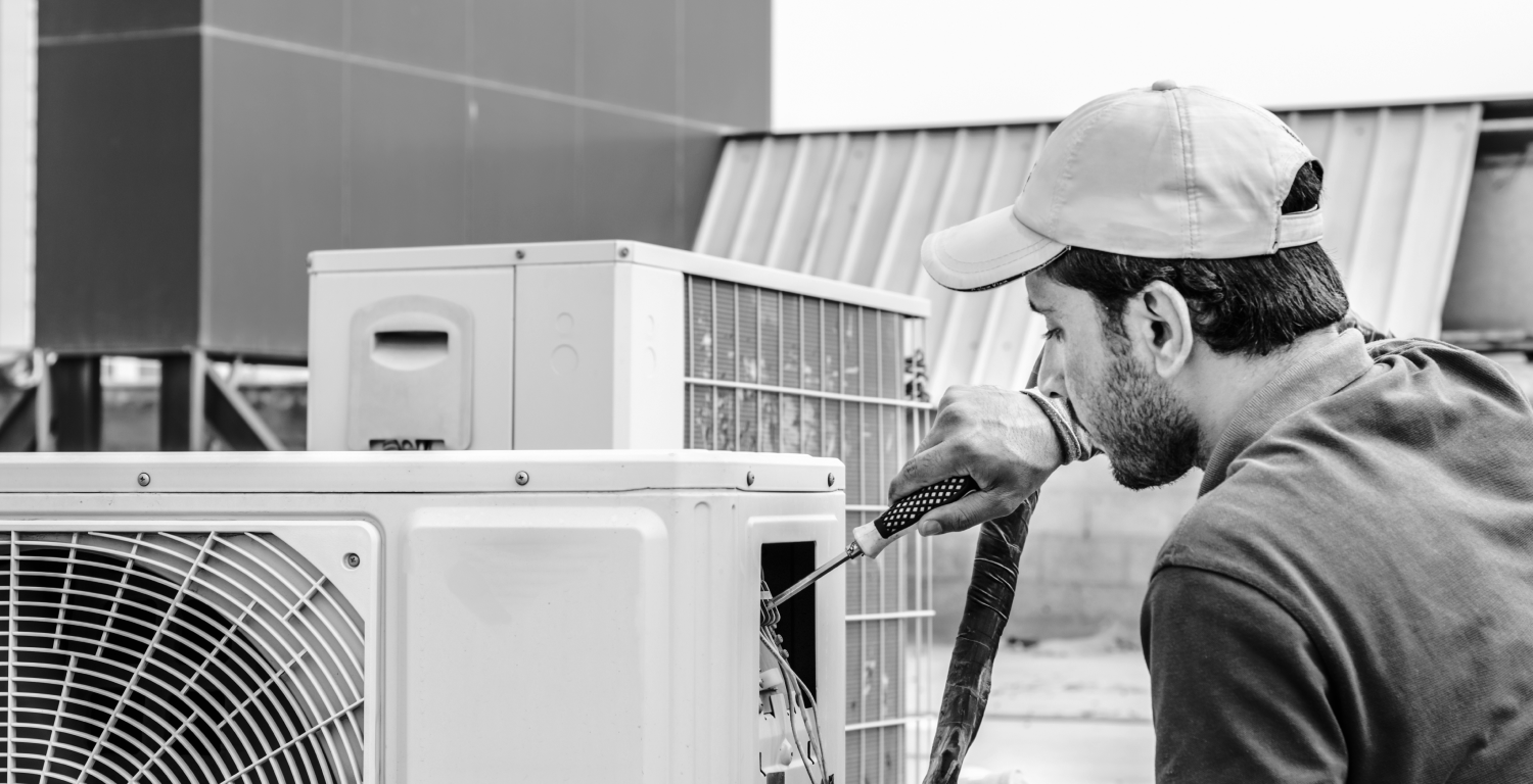 air condition repair in black and white